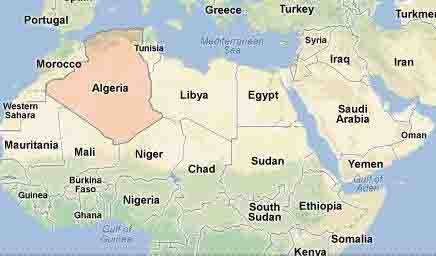Algeria Location Map