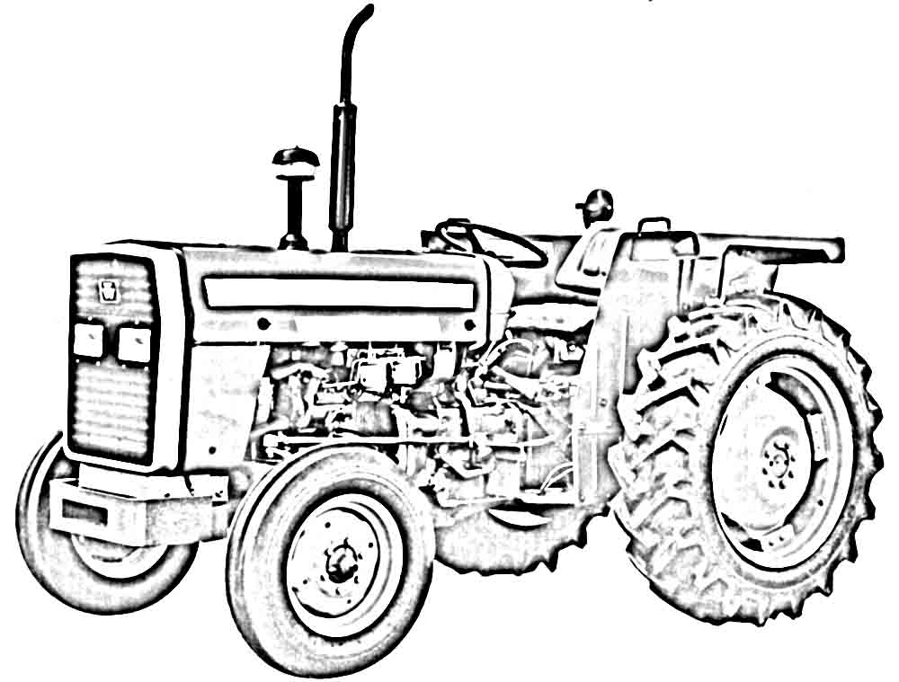 Line Drawing Tractor : John deere tractor line drawing sketch coloring page