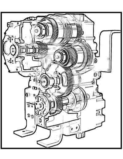 Massey Ferguson tractor engine