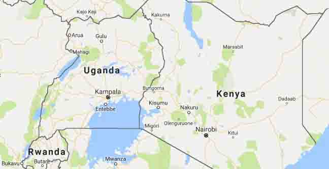 Kenya Location Map