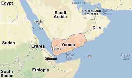 Yemen Location Map